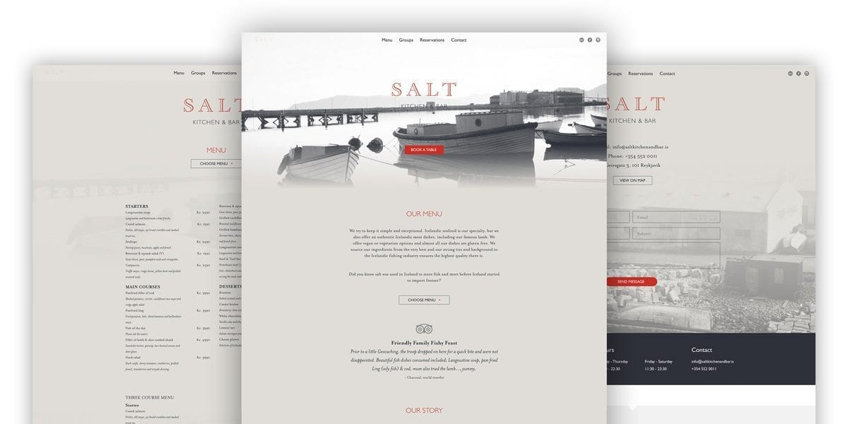 Salt Kitchen and Bar - Avista Digital Agency